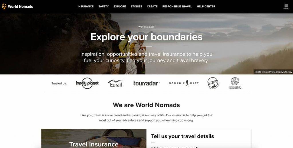world nomads homepage