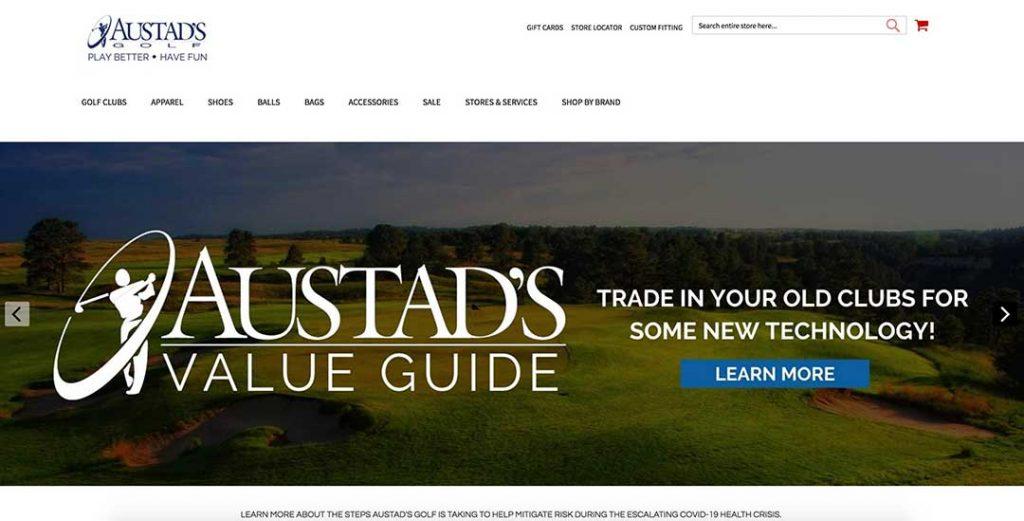 Austads homepage