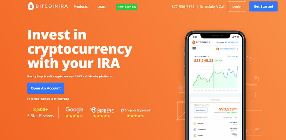 Bitcoin IRA Homepage