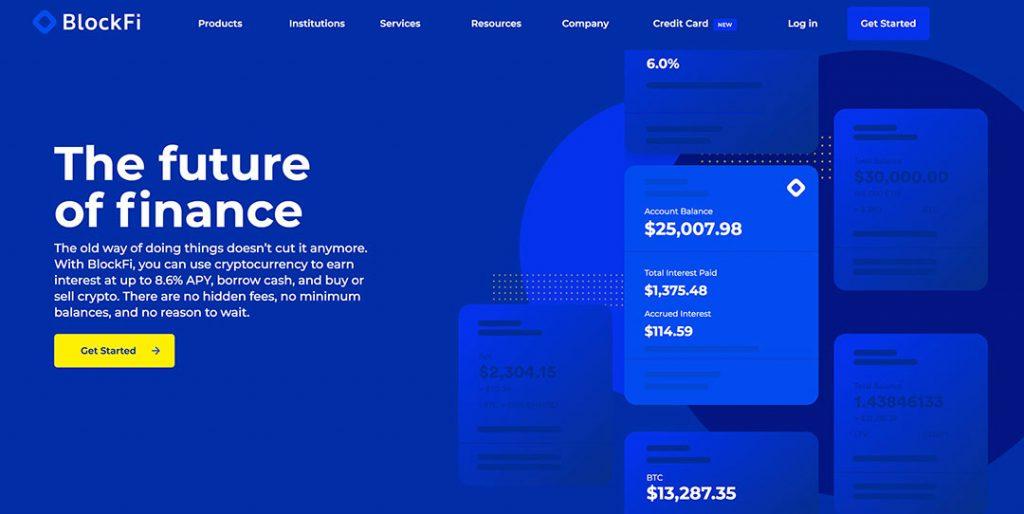 BlockFi Homepage