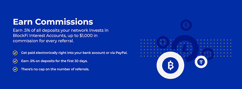 BlockFi earn commissions