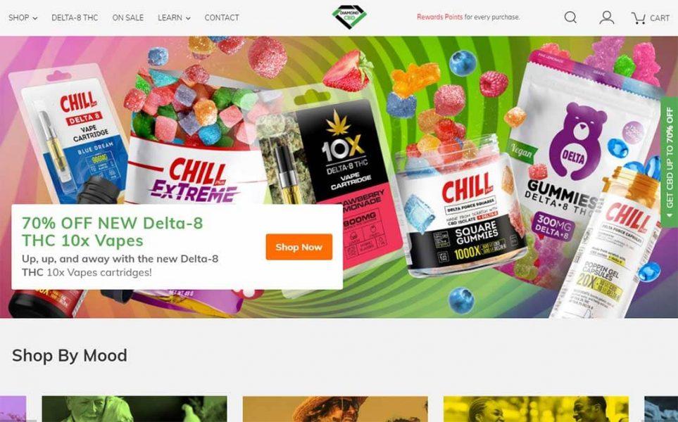 Diamond CBD homepage