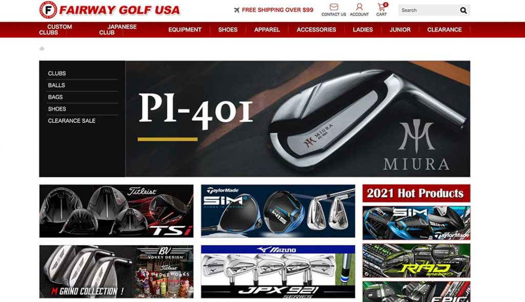 Fairway golf usa homepage