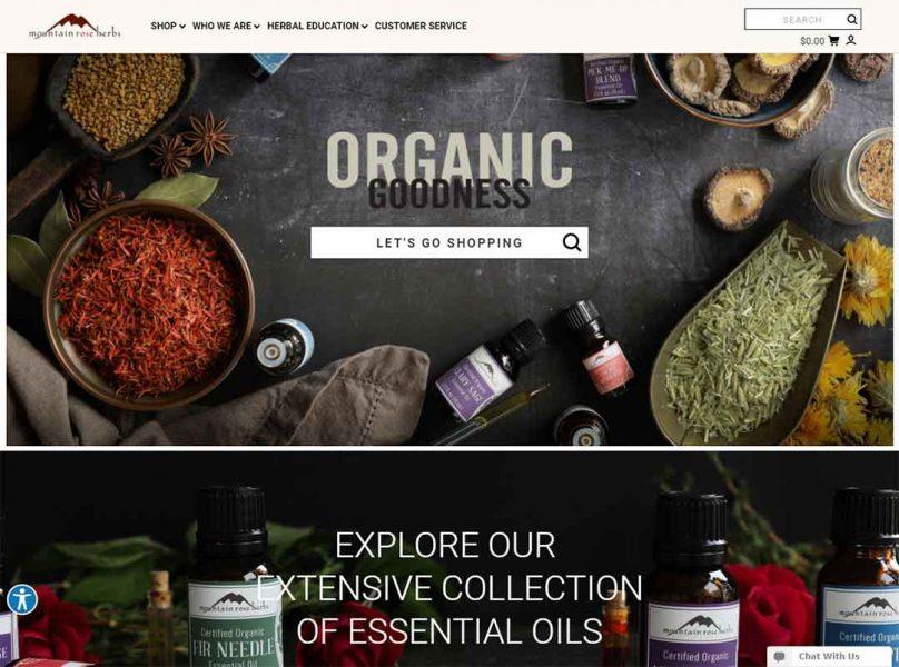 Mountain Rose Herbs homepage