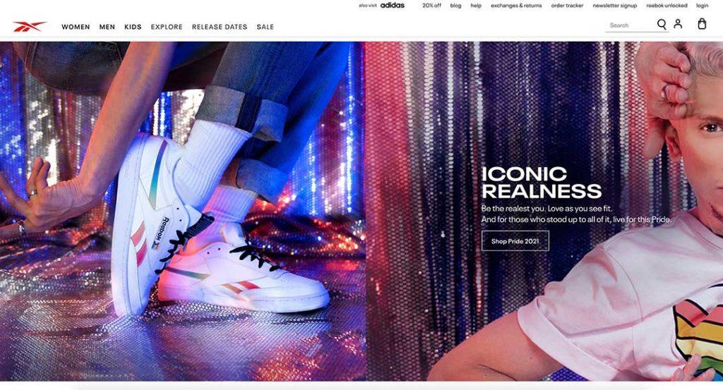 Rebook homepage