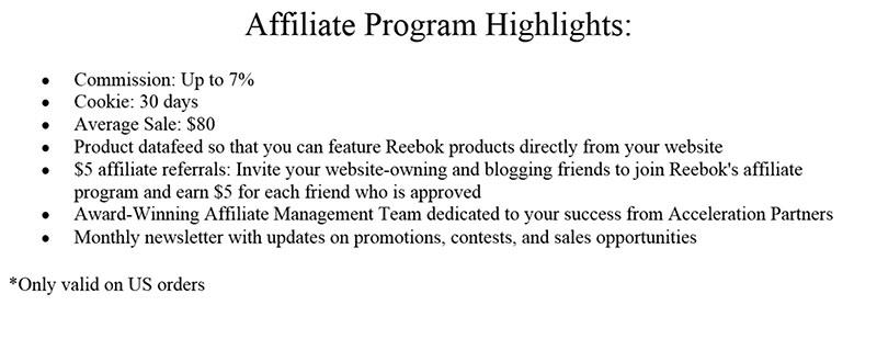 Rebook program highlights