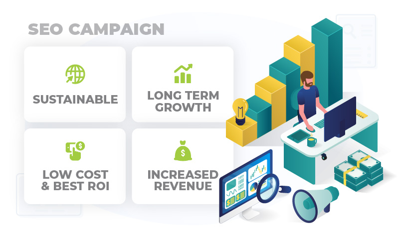 SEO campaign benefits in business