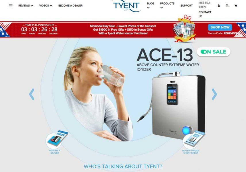 Tyent homepage