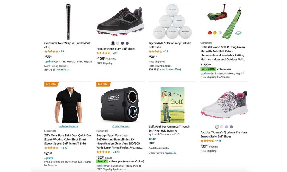amazon golf items