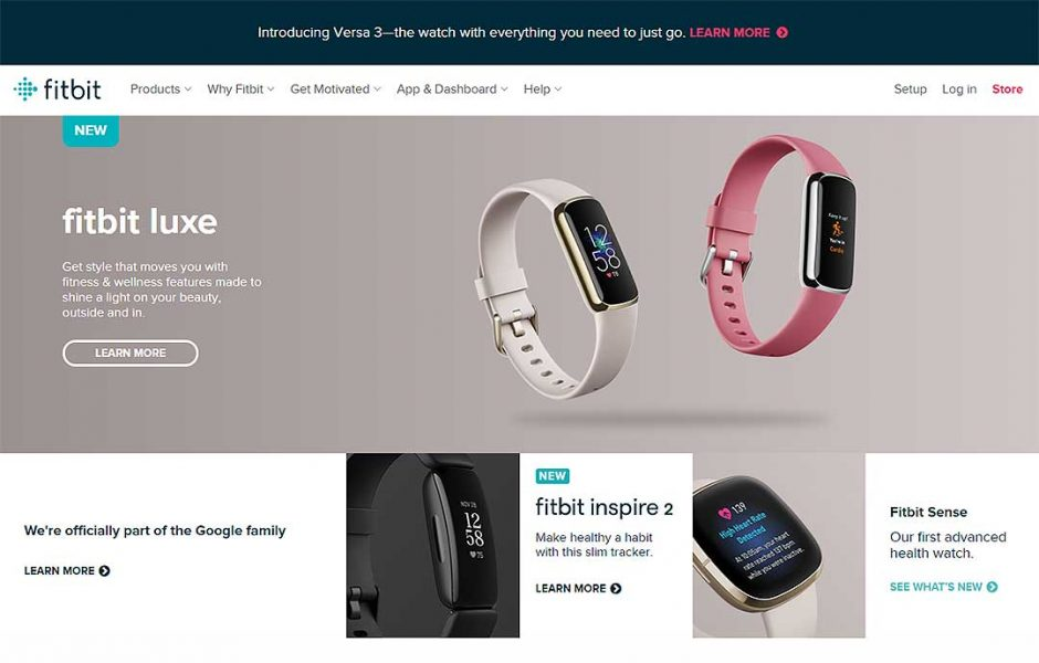 fitbit homepage preview