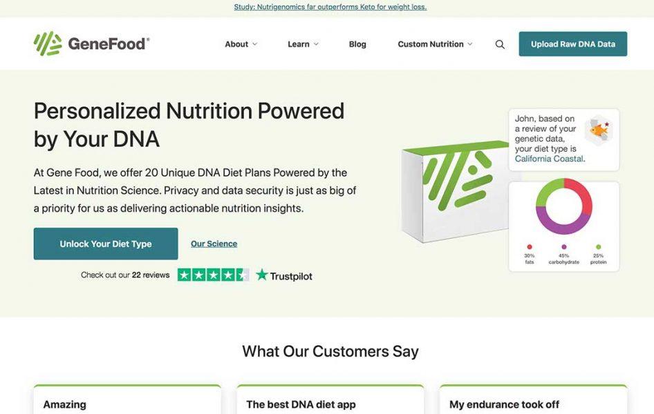 genefood homepage