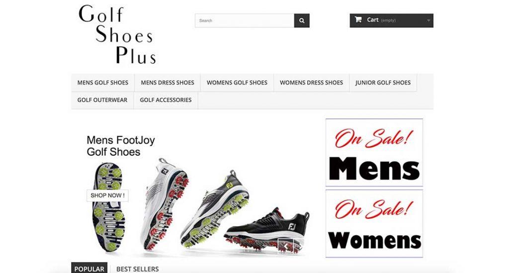 golf shoes plus homepage