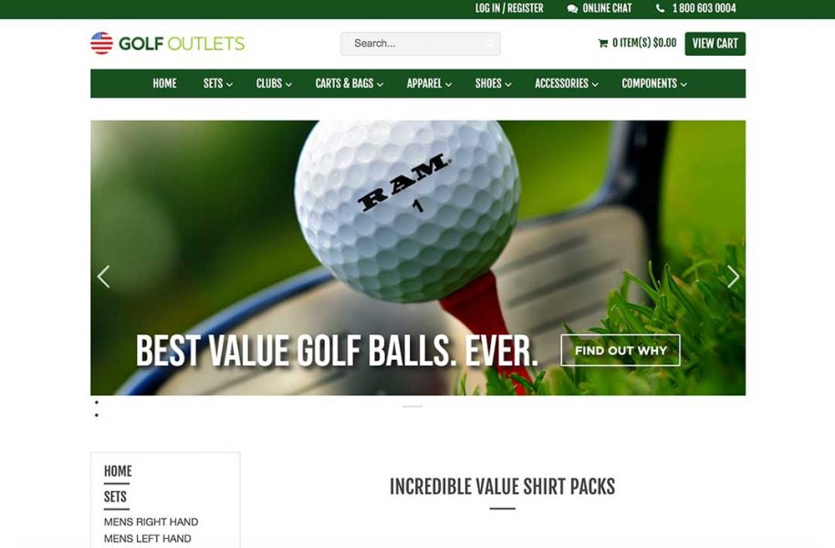 golfoutletsusa homepage
