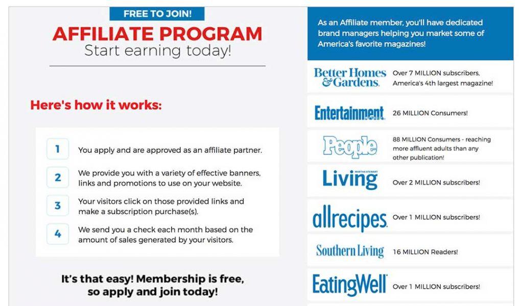 magazine store affiliate program