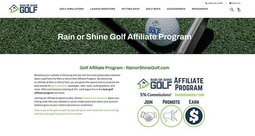 rain or shine golf homepage