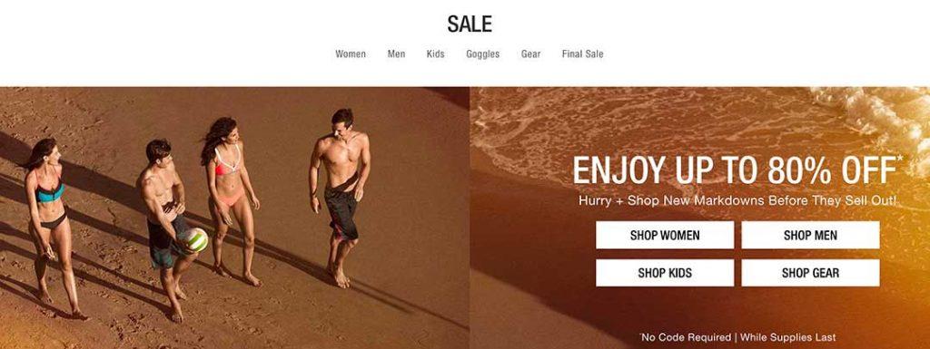 speedo sale page