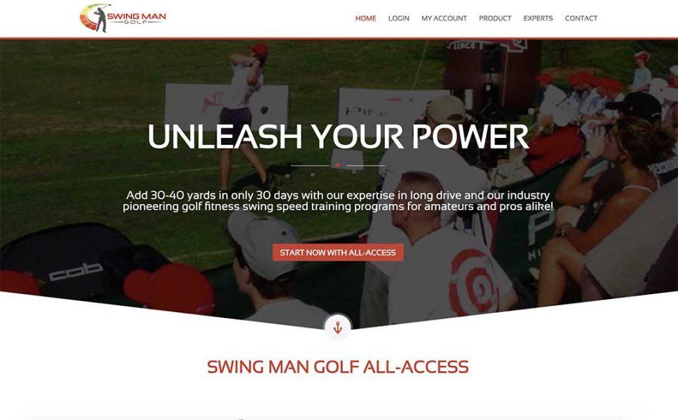 swing man golf homepage
