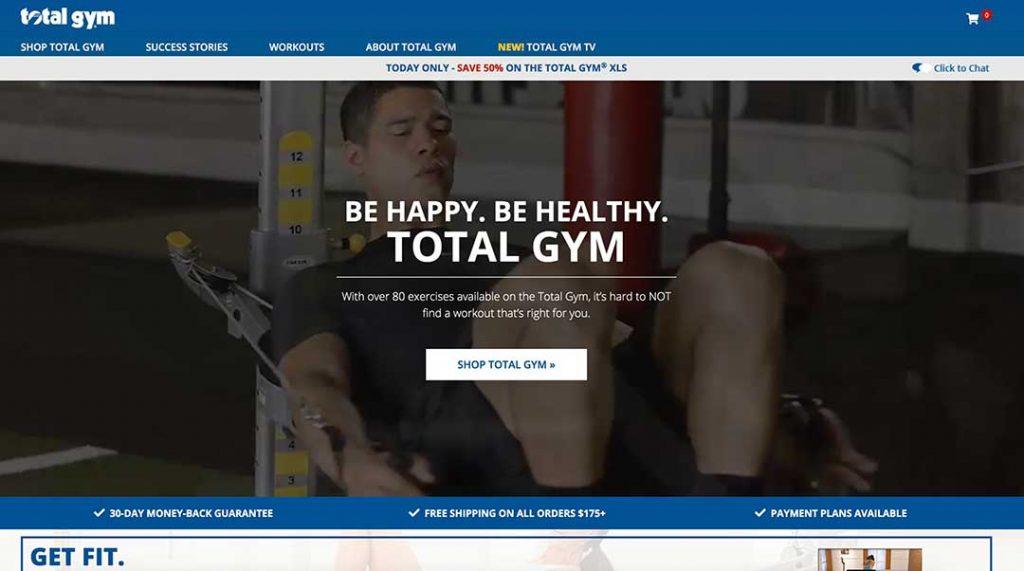 total gym homepage
