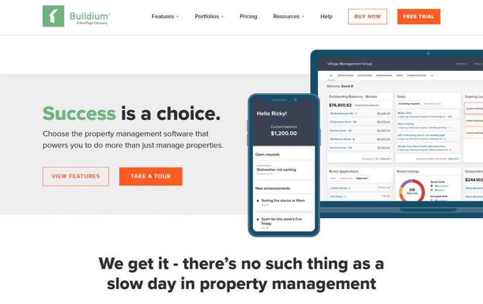Buildium Homepage