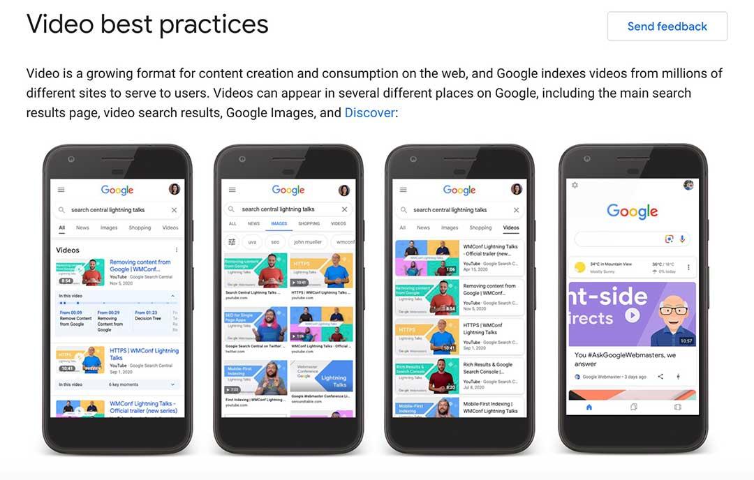 Google best video practices