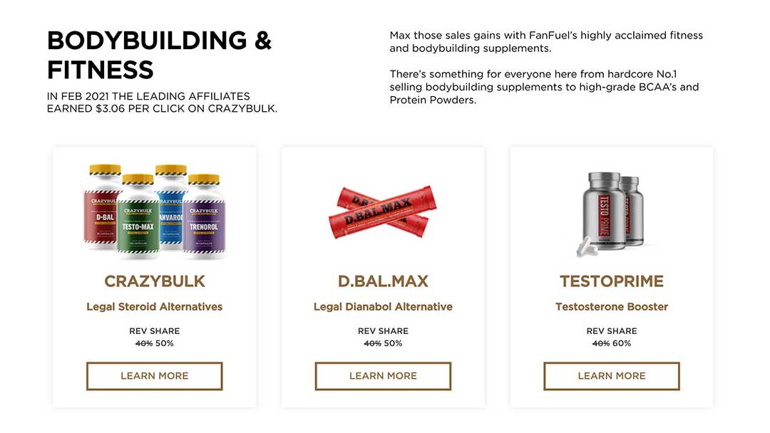 bodybuilding fitness products from fanfuel