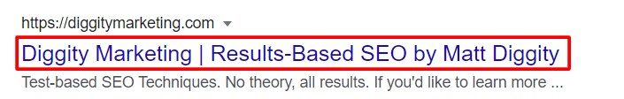 diggity marketing search result on google