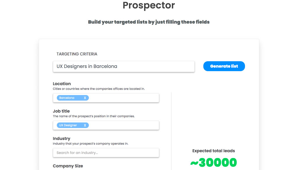 find that lead prospector