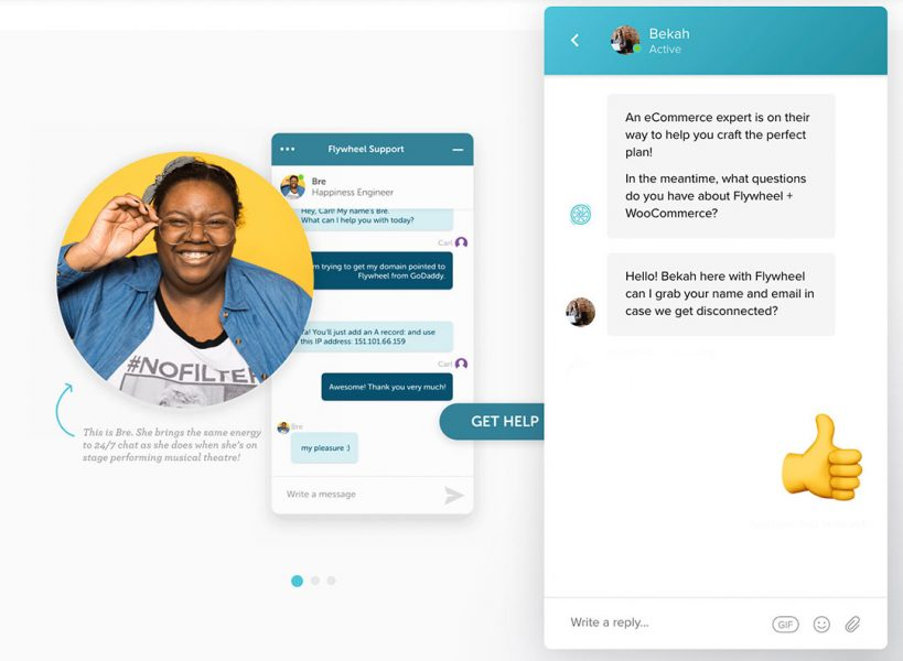 flywheel chat support feature