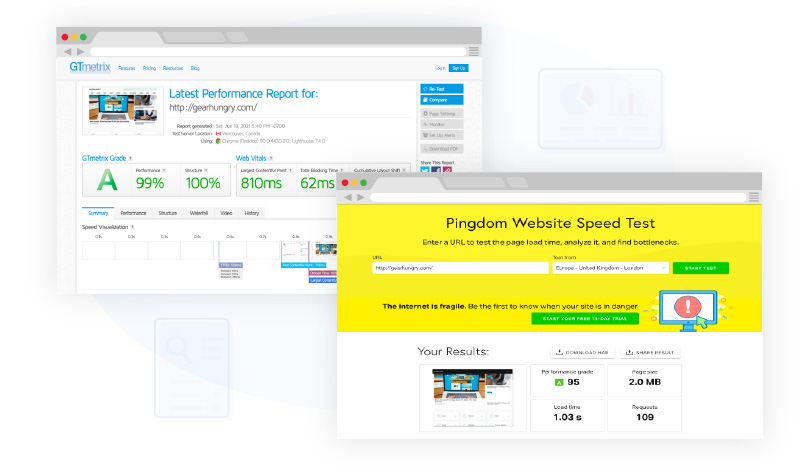 gearhungry pagespeed sample preview