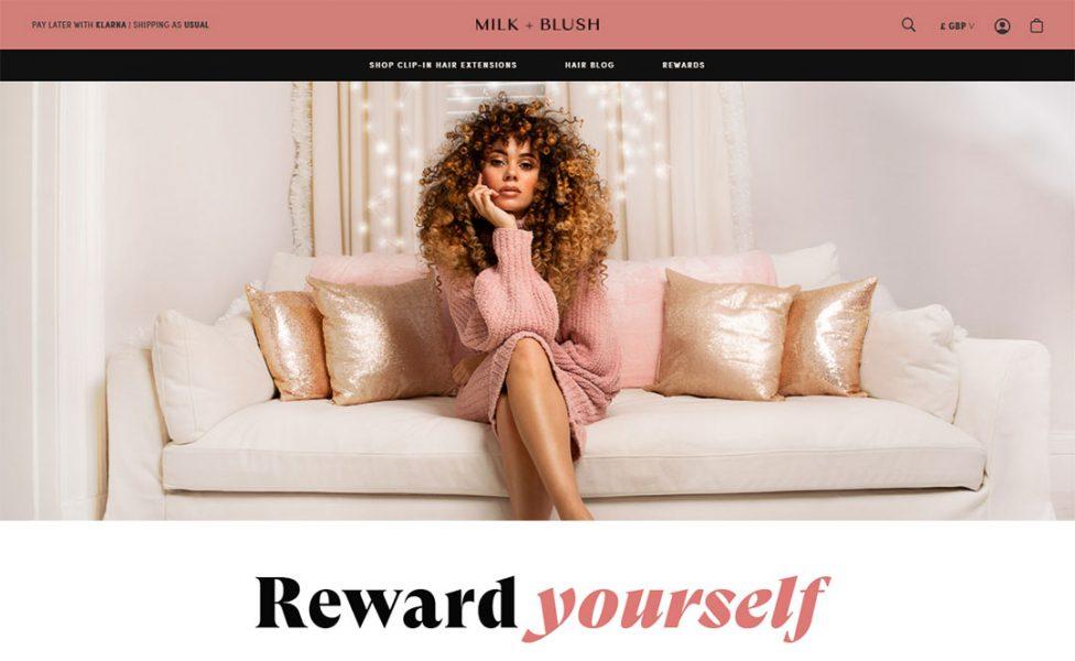 milk blush homepage