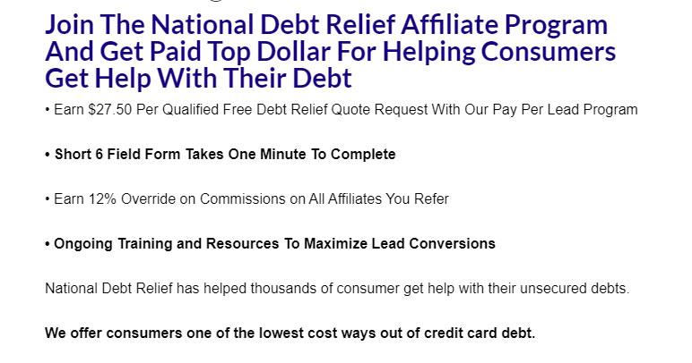 national debt affiliate program