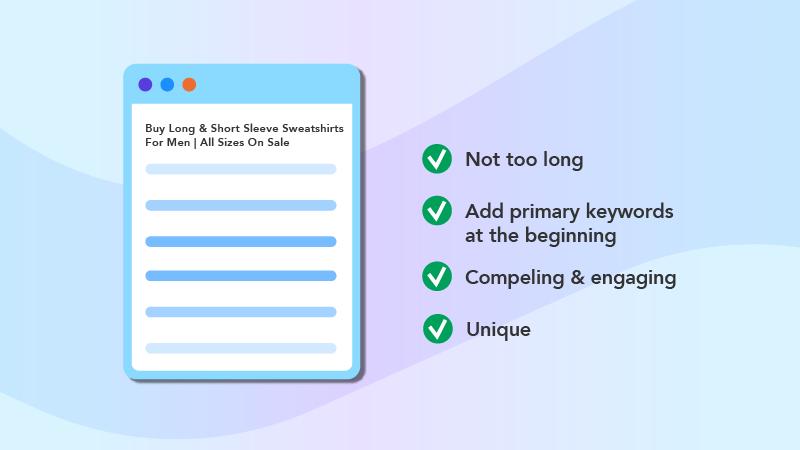 page title checklist