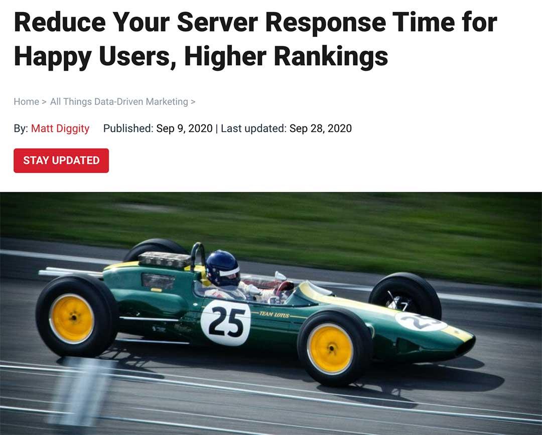 reduce server response time matt guest post