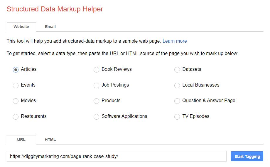 structured data mark up helper