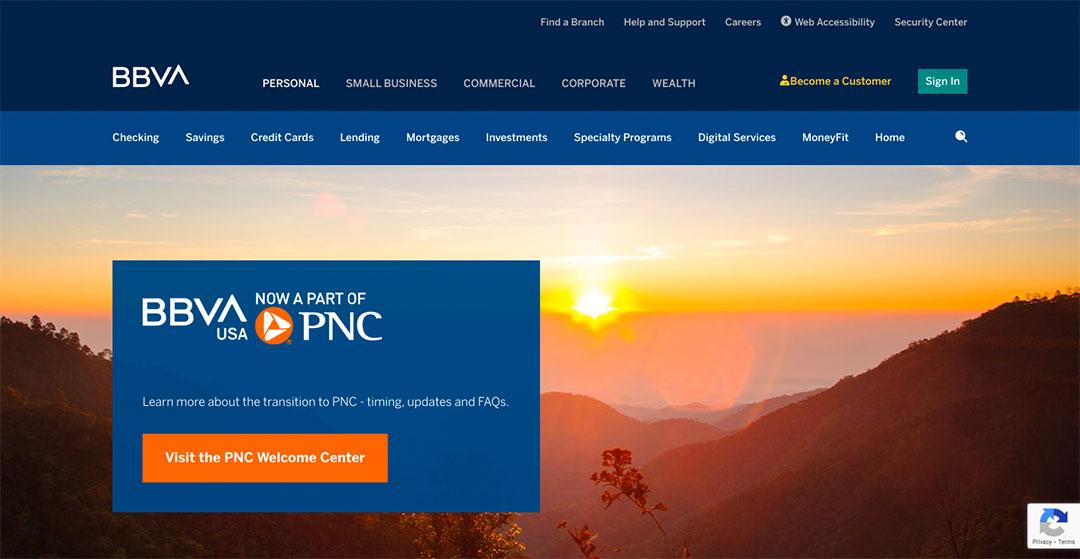 BBVA-Homepage