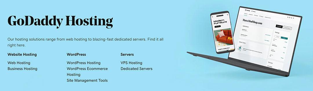 Godaddy hosting options