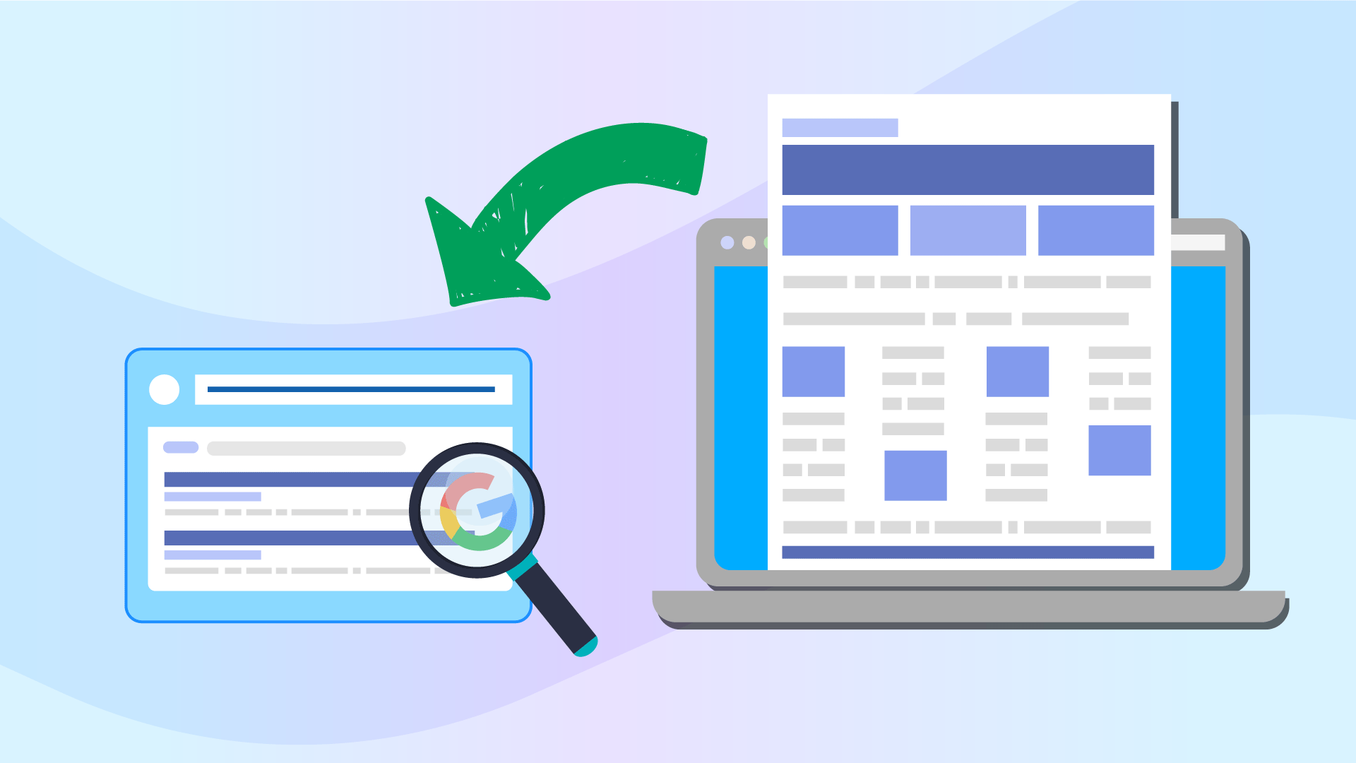 Google friendly page with content audit