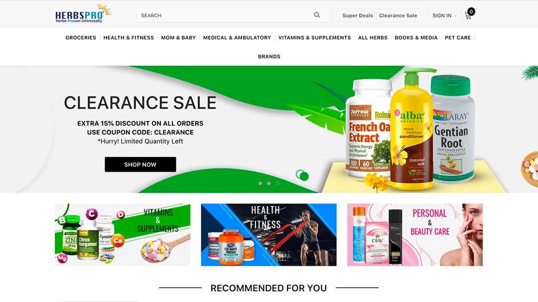 HerbsPro Homepage