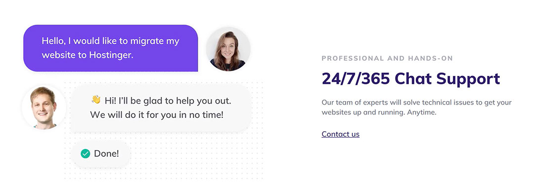 Hostinger customer support preview
