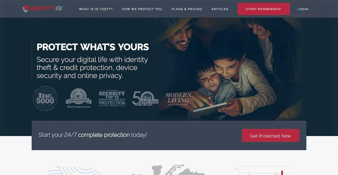 Identity IQ Homepage
