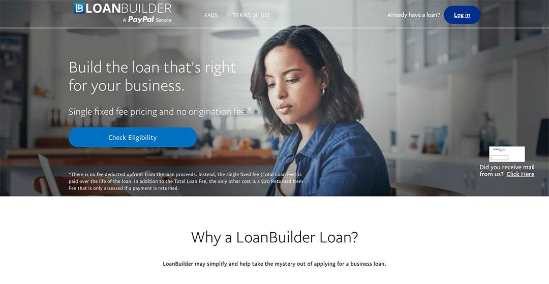 Loanbuilder homepage