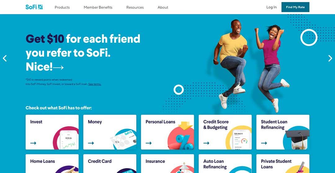 SoFi Homepage