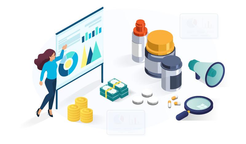 Supplement affiliate site ideas illustration