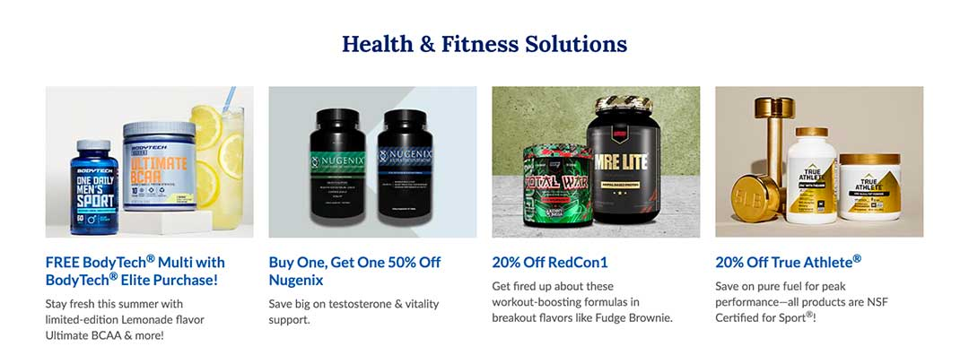 The Vitamin Shoppe Health and Fitness Products