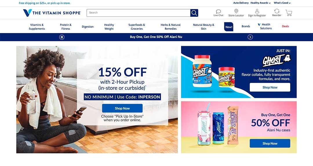 The Vitamin Shoppe Homepage