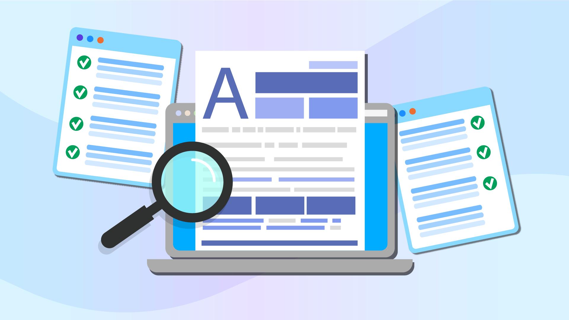 what is content audit illustration
