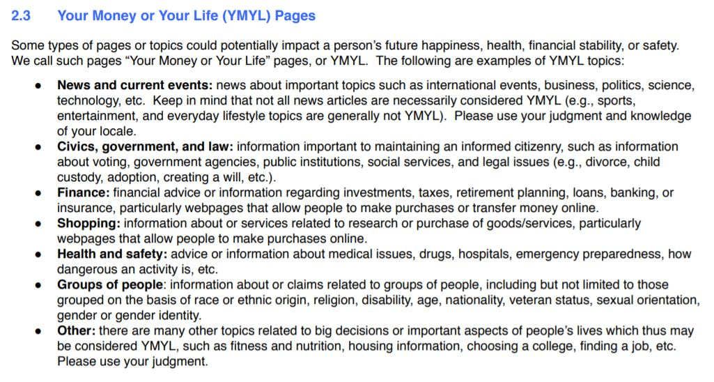 ymyl page content sample