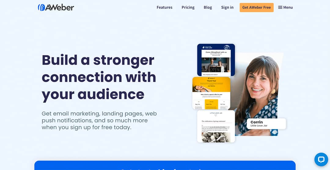Aweber Homepage