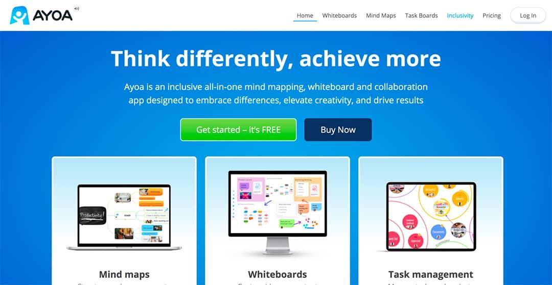 Ayoa Homepage