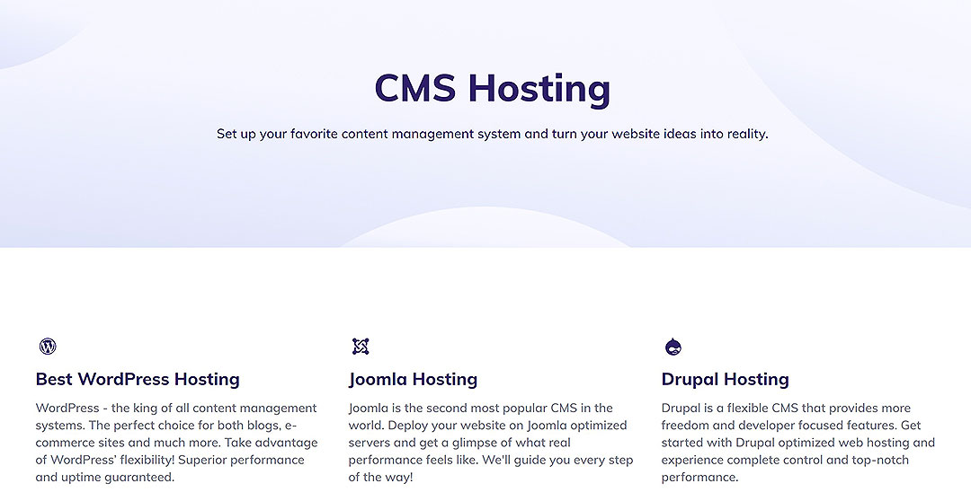 CMS Hosting feature